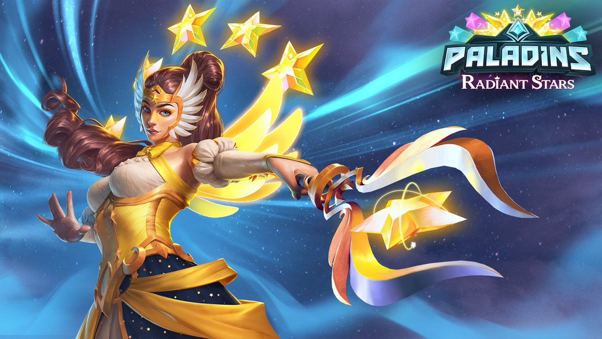 Thank you all for tuning into our Update Showcase for Radiant Stars. We hope youre as excited as we are for the Star Sisters to make their way into the Realm. Which one of these skins do you think is the most Stellar? 🌟 paladins.com/news/radiant-s…