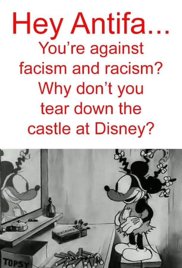 And Disney is all pedo shit anyway. Just another reason to tear it down. #Antifas #BlackTransLivesMatter  #blacklivesmatter #blackface @Disney @DisneyStudios #1stJuly #LetsGetItPoppin #WednesdayWisdom #WWG1WGA #MAGA #Trump2020 #WalkAwaypic.twitter.com/iJIb1HDPtg