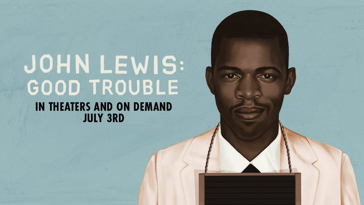 Congressman #JohnLewis on his new documentary #GoodTrouble. Streaming 3 July. #CivilRights [ https:// ew.com/movies/congres sman-john-lewis-movie-good-trouble-interview/   … ]<br>http://pic.twitter.com/I3IHnKGy2Y