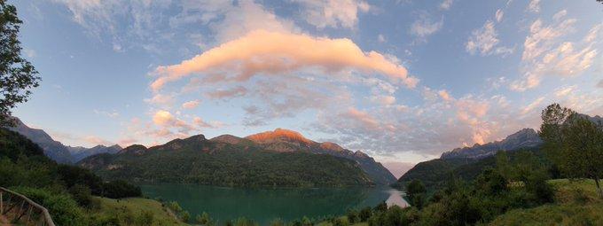 Panoramica de #bubal al atardecer hoy. Que ganas de #Pirineo tenia.