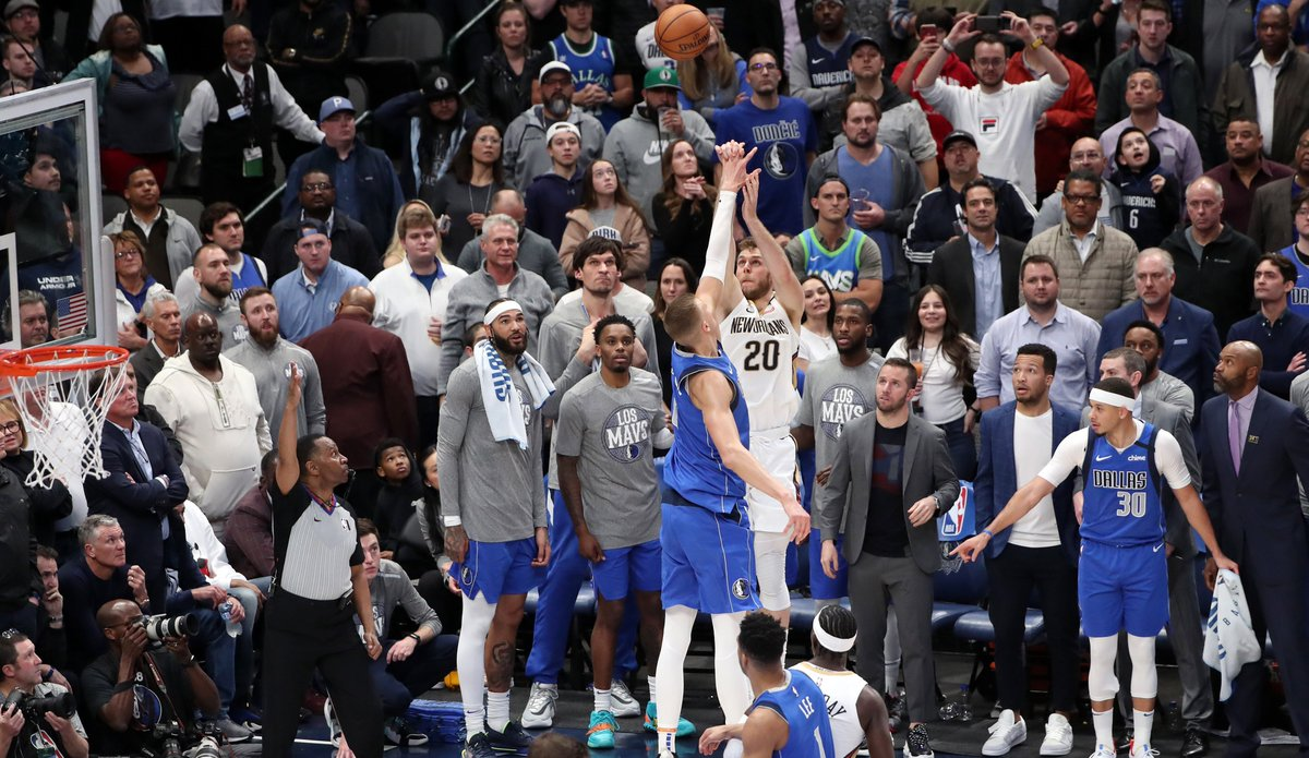 Nicolo Melli just spent three-plus months in his New Orleans home, unable to return to his native Italy. The rookie forward is thrilled to be back on the court, now trying to regain the touch that put him among #NBA's top 3-pt shooters in Jan/Feb: https://t.co/zcDyNbH4vy https://t.co/qgV61lrxrk