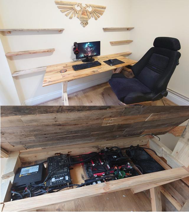 DIY Battlestation made from old pallets! pic.twitter.com/lTRmlOMgef