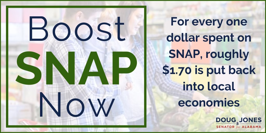 Food insecurity across our nation has increased significantly during the COVID-19 pandemic. One of the best ways to fight hunger & stimulate our economy is through the SNAP program. I'm urging the Senate to include increased SNAP benefits in our next COVID package. #BoostSNAPNow