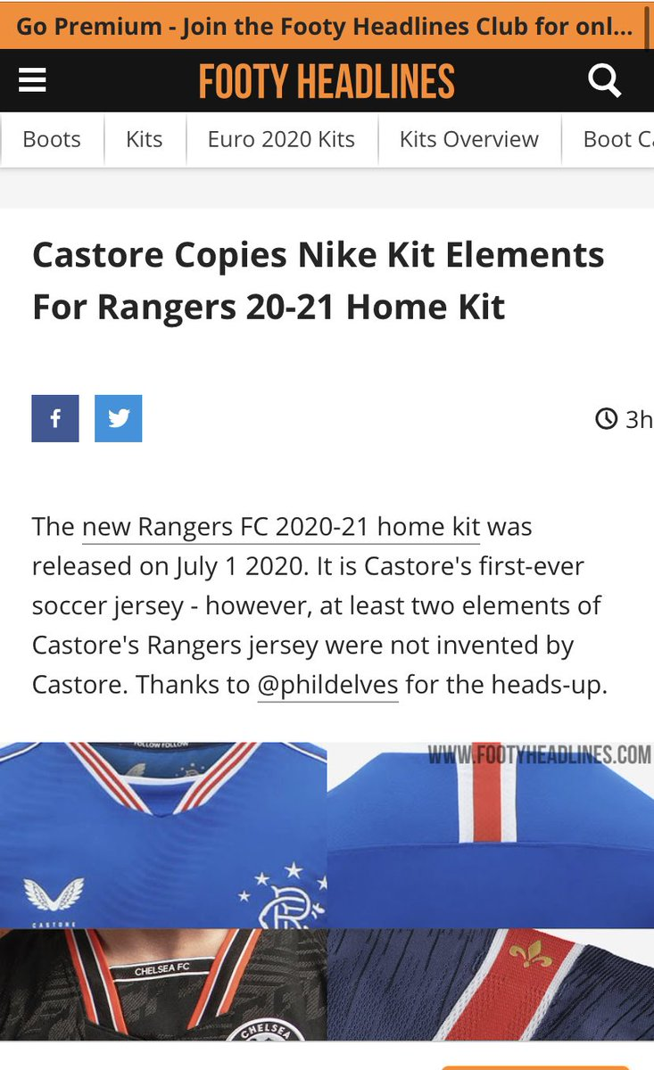 "No surprise to find Castore using old Nike designs - they're about as original as the new Rangers.   And the designer is a Turk, probably the brother in law of Mehmet of ""Mehmet's Marvellous Marmaris Sports Emporium"" fame 🤔.  https://t.co/OoPxOq6pvv https://t.co/WsPQJVlm6o"