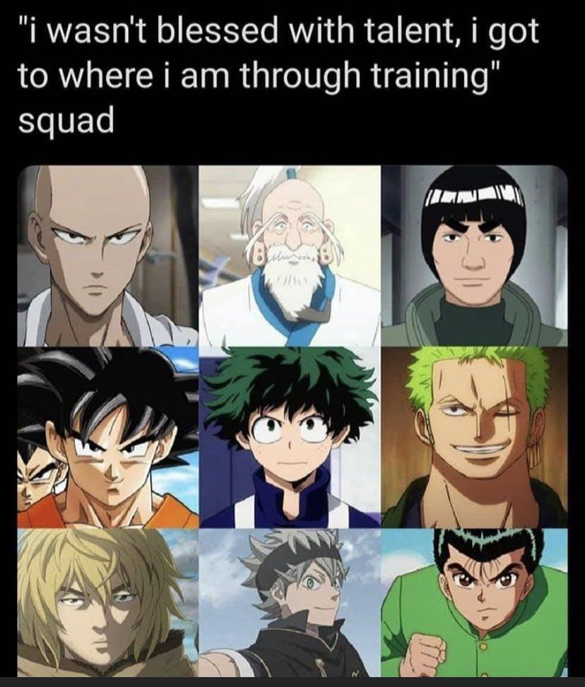 Who do y'all think worked the hardest and who is y'all favorite?  #anime #animememes #onepiece #yuyuhakusho #naruto #onepunchman #myheroacademia #hunterxhunter #dragonballsuper #vinlandsaga #blerd #blerdlife #otaku #otakulife #otakuworld pic.twitter.com/VQD3Rdr6YT