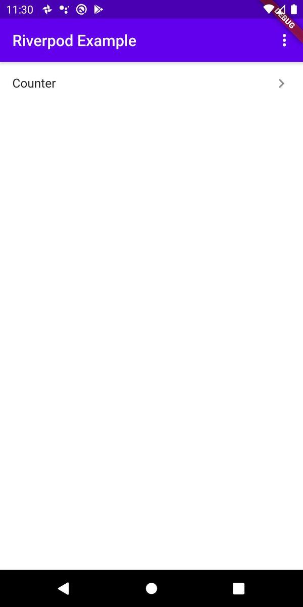 Riverpodのサンプルを作り始めた( ´・‿・`)かなりシュッと書けてどんどん気に入ってきた( ´・‿・`)まだテーマを変える機能とカウンターだけだけど、検証兼ねて一通りの機能を織り交ぜる予定( ´・‿・`)