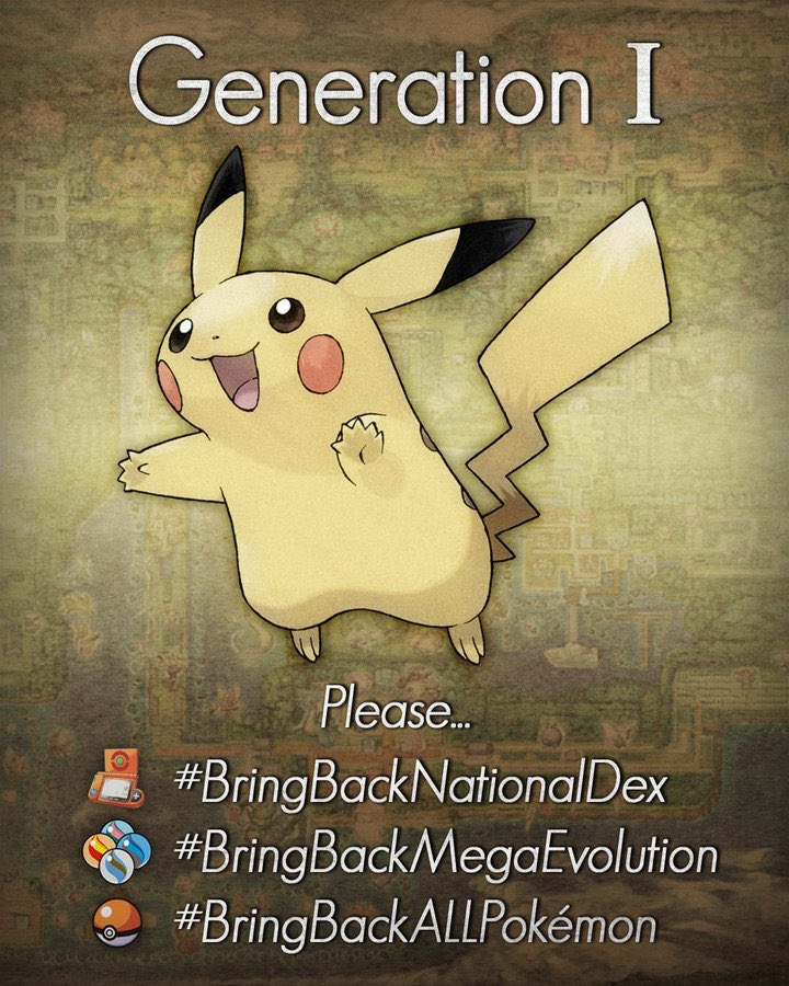 Give it all you've got, Pikachu! Please think about all of the memories other trainers have with their Pokémon, please #BringBackNationalDex <br>http://pic.twitter.com/g9fkA1ppZL