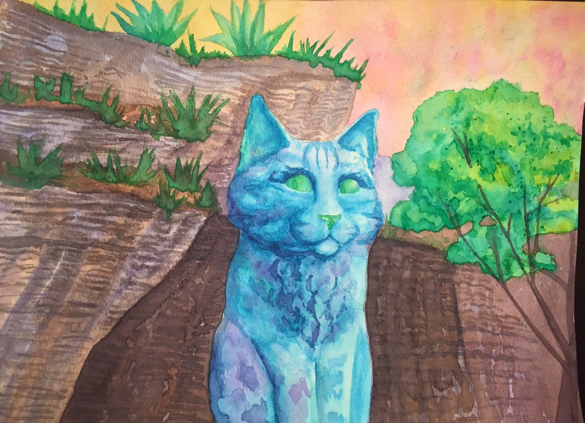 Some new progress pics of my cat statue painting. Ever feel like you just do too much sometimes? #progresspics #WorkinProgress #watercolor #watercolorpainting #cat #ArtistOnTwitterpic.twitter.com/9RUihuwtCr