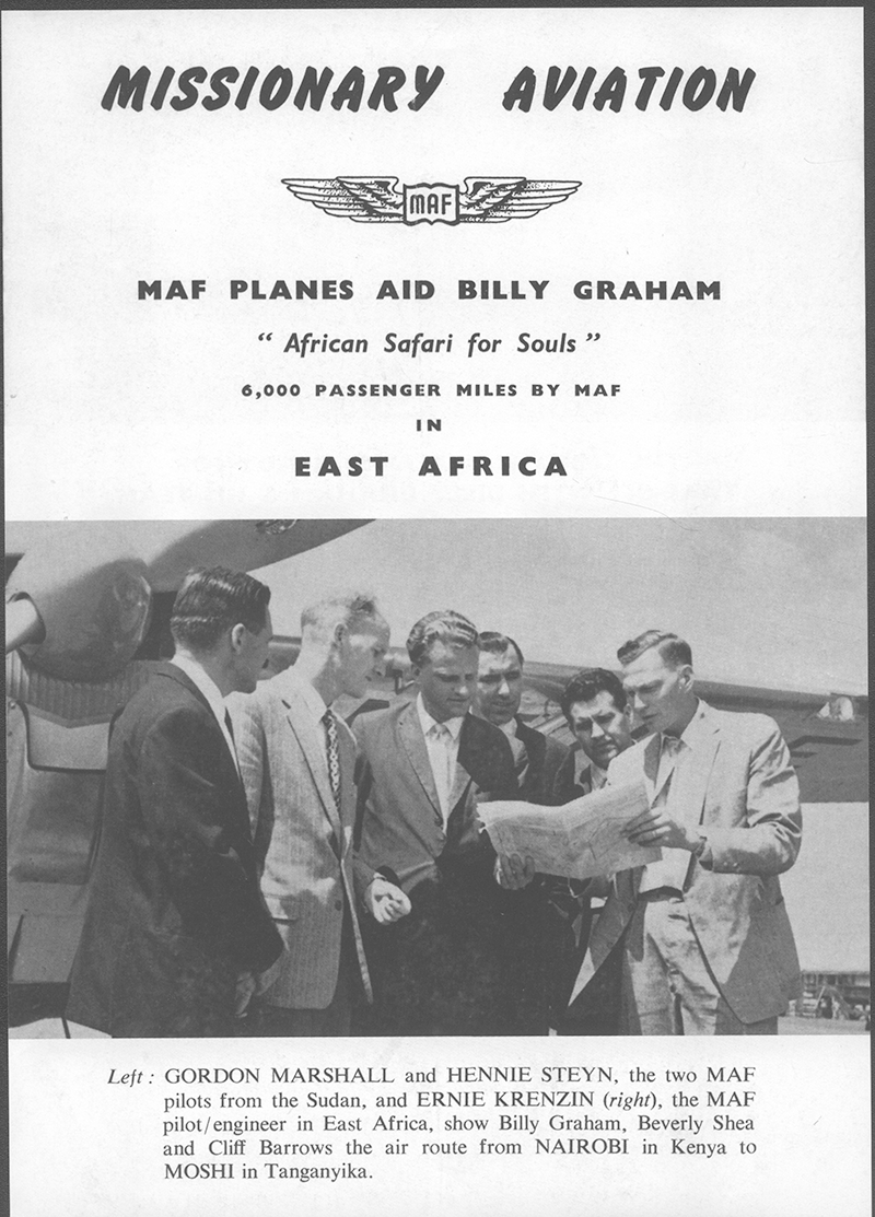 #throwbackthursday Back in 1960 MAF was honoured to be a part of Billy Grahams Safari for Souls around Africa. Check out these priceless photos and a newsletter from the time. . . #mission #iflymaf #flyingforlife #africa #mafafrica #billygraham