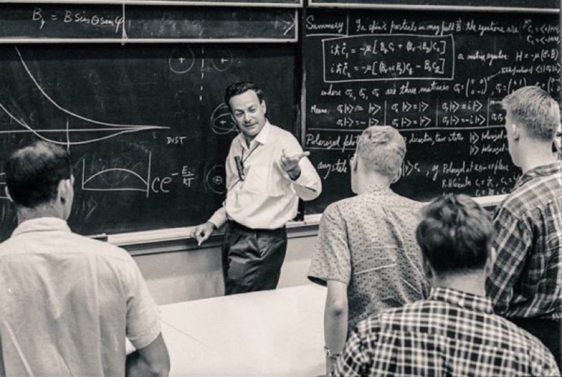 """We need to teach how doubt is not to be feared but welcomed. It is okay to say, """"I don't know.""""  —Professor Richard Feynman https://t.co/S2CWLCgR30"""