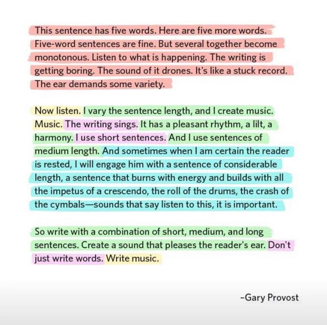 This is a great writing tip. Yes great!