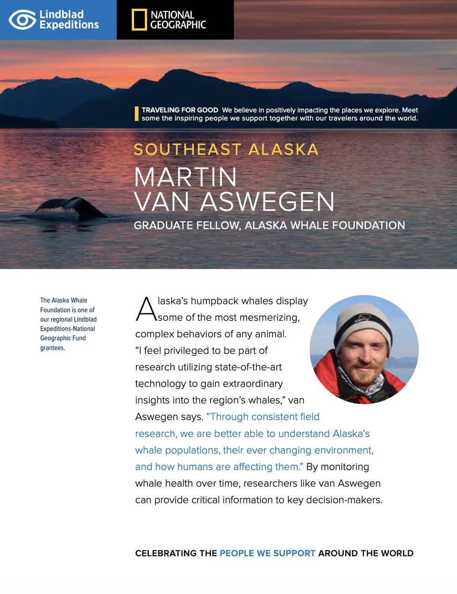 Introducing the first edition of Celebrating People! Each week this summer, we'll introduce a different person doing inspiring, impactful work somewhere in the world w/support from the Lindblad-National Geographic Fund. We're pleased to introduce researcher Martin Van Aswegen: https://t.co/0fwqPMk9Qf