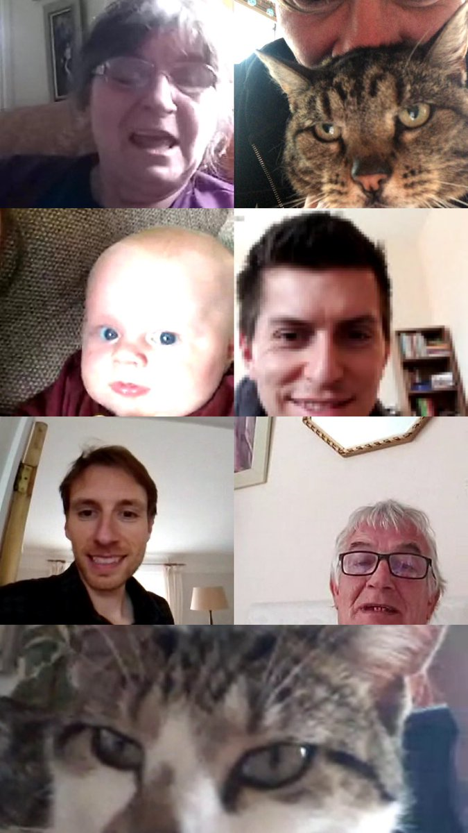 I'm so going to print and frame some of our fam lockdown FaceTime chats.