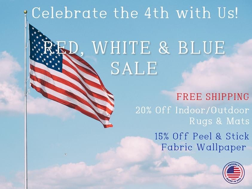 Celebrate the 4th of July by supporting local Manufacturers & Designers. We created NEW product collections of Peel & Stick Wallpaper and Indoor/Outdoor Rugs & Mats, designed to bring color and fun to your indoor & outdoor spaces.  Shop now on http://www.sbcdecor.compic.twitter.com/USzdty5jWD  by SBC Decor