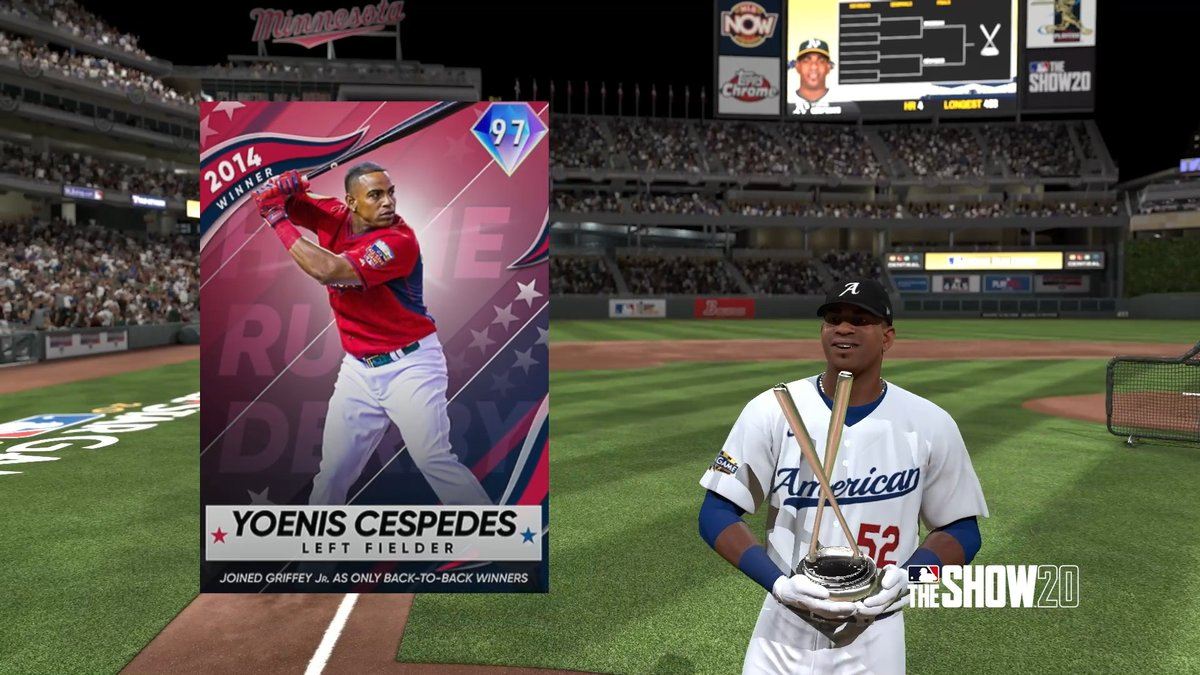 Home Run Derby Pack - Set 1 is LIVE! Rare Round: Cespedes, Stanton, Cano Base Round: Gonzalez, Giambi, Parker  Get MLB The Show 20 Today: https://t.co/IXmdmrijjJ  #TheShow20 #WelcomeToTheShow #TheShow #MLBTheShow20 #MLBTheShow https://t.co/TnjIQEutUj