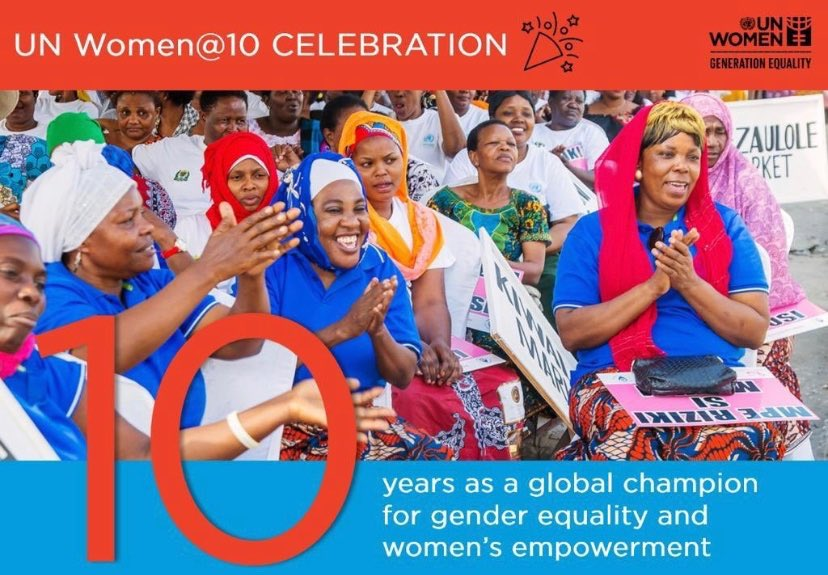 """""""We can't achieve the #SDGs, the global agenda for people, planet & prosperity, if we don't bring along half of our population."""" I celebrate @UN_Women for working over the last 10 years to ensure #women are protected & empowered to effectively play their part #GenerationEquality twitter.com/un_women/statu…"""