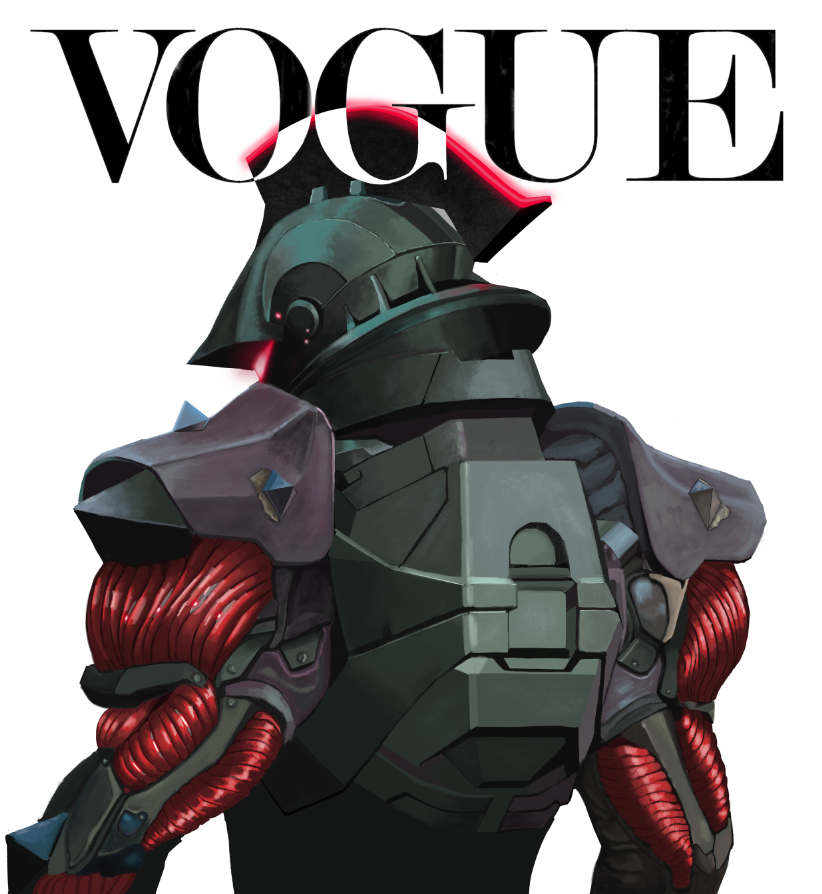finally got this boi done. But I still have the rest of the painting to finish. Decided to slap the logo on and see how it'll look. #VogueChallenge pic.twitter.com/MJ5xoQN4td  by JoonK