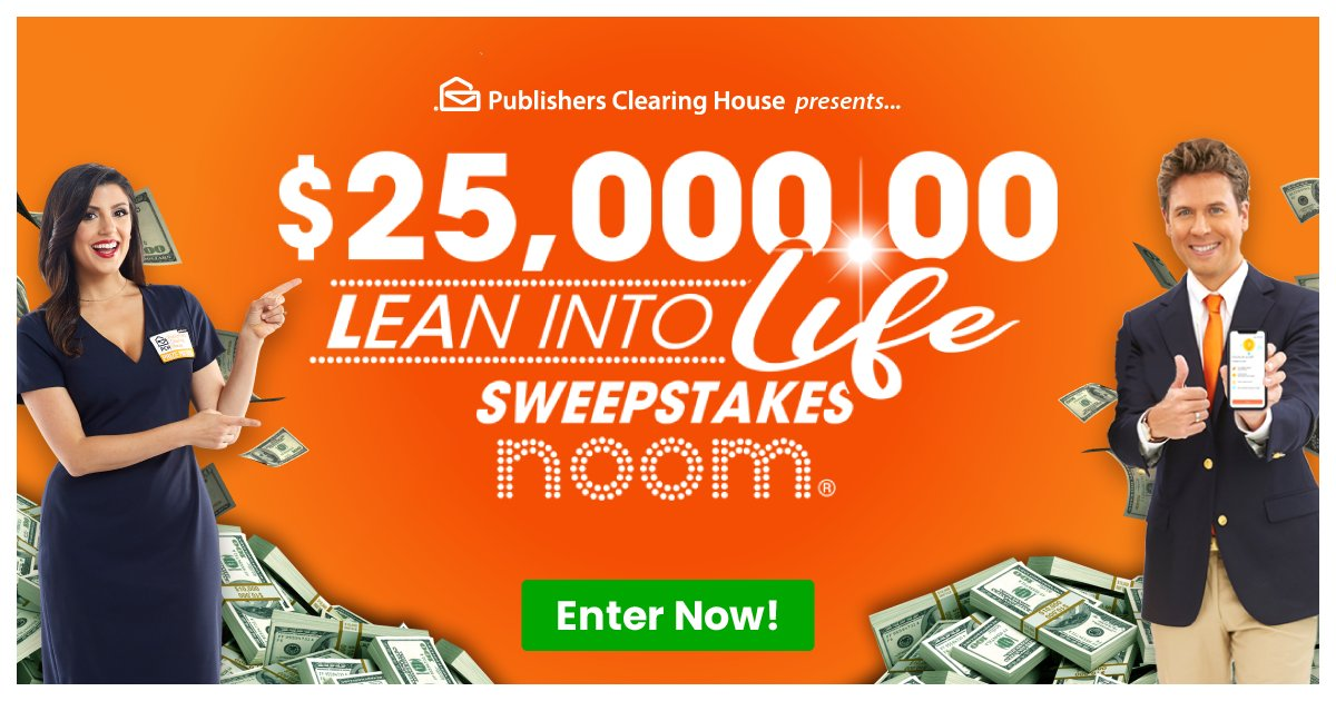 Flex on this chance to #win $25,000.00: https://bit.ly/2BYStOu  It's an opportunity to win from #PCH and @noom! #adpic.twitter.com/yTe95cigXT