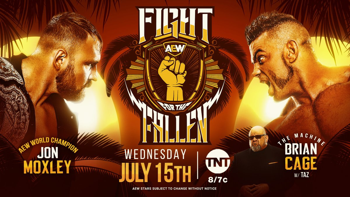 Jon Moxley vs. Brian Cage Delayed, Taking Place at Fight For The Fallen