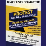 Image for the Tweet beginning: Protest for All Black Lives!