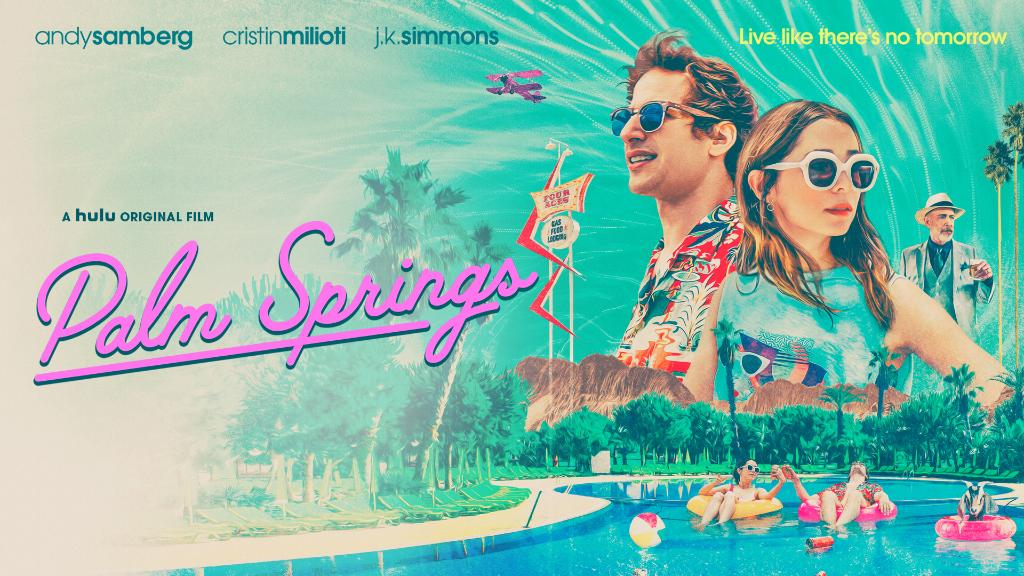 See you in Palm Springs ✌️🌴 #PalmSpringsMovie premieres July 10, only on Hulu. https://t.co/dwiWI0m7Ml