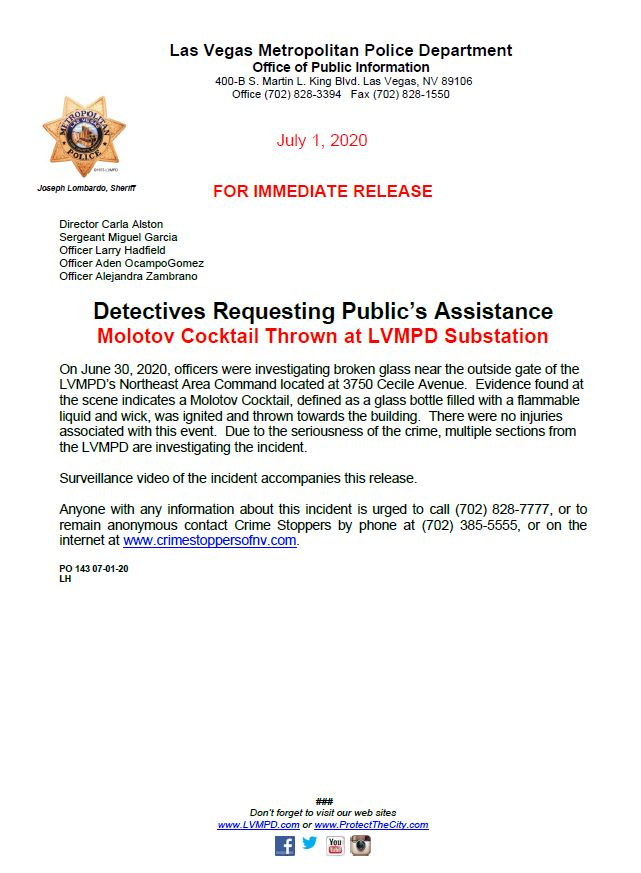 LVMPD (@LVMPD) on Twitter photo 02/07/2020 01:35:35