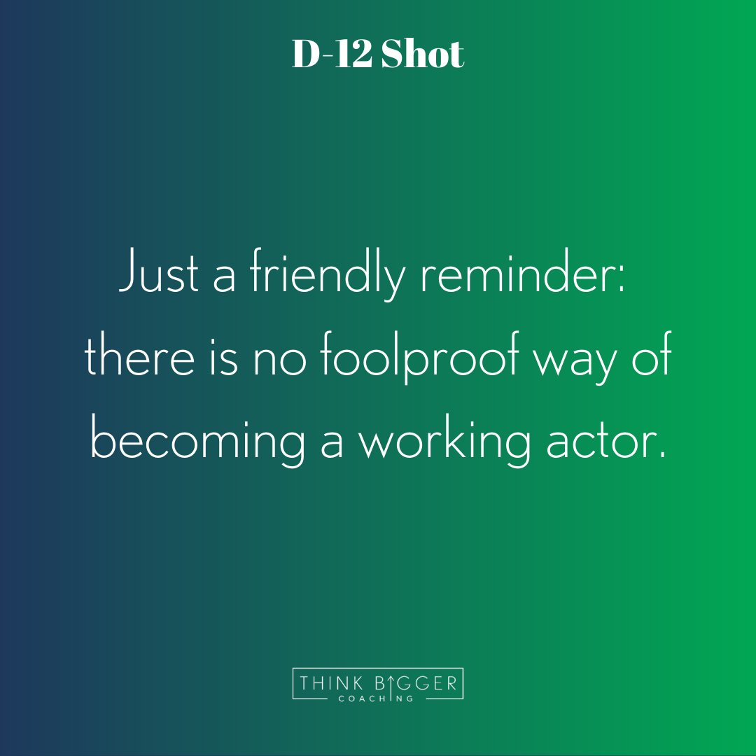 While this may be true, it is your job as an actor to add to your toolbox and work hard to make sure that when that moment happens you are ready.  Stay on top of your game actors.   RETWEET if you're with me!  #actorslife #workhard #dreambig #thinkbigger #followyourdreamspic.twitter.com/g3ZAy4NmHQ