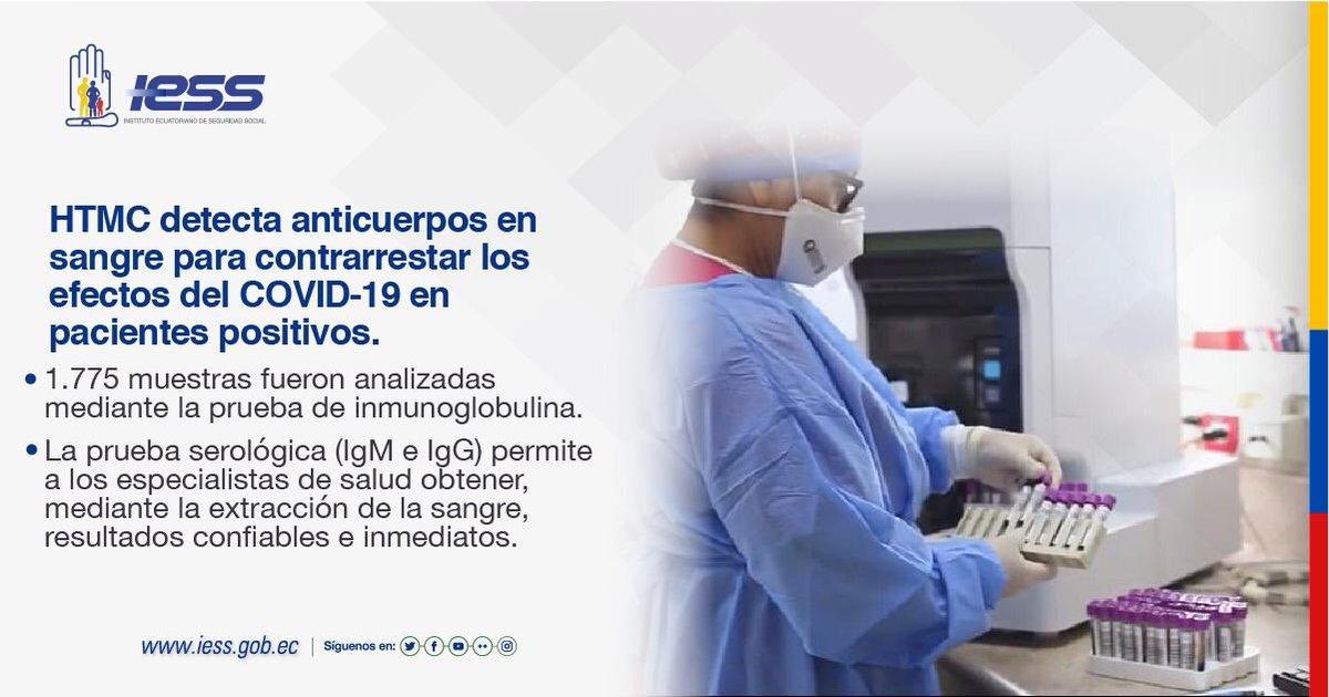 Equipamos el laboratorio clínico del Hospital del @IESSec Teodoro Maldonado Carbo para realizar pruebas de sangre en pacientes COVID-19, de esta forma se obtienen resultados confiables e inmediatos.  #IESSBuenasNoticias https://t.co/EYmg83lPiR