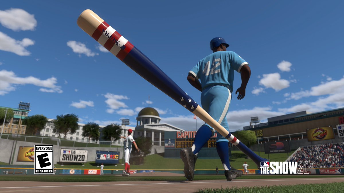 Here is a look at the STARS AND STRIPES bat skin that will be attainable in Ranked Seasons #5. Get MLB The Show 20 Today: Play.st/MLBTS20 #TheShow20 #WelcomeToTheShow #TheShow #MLBTheShow20 #MLBTheShow