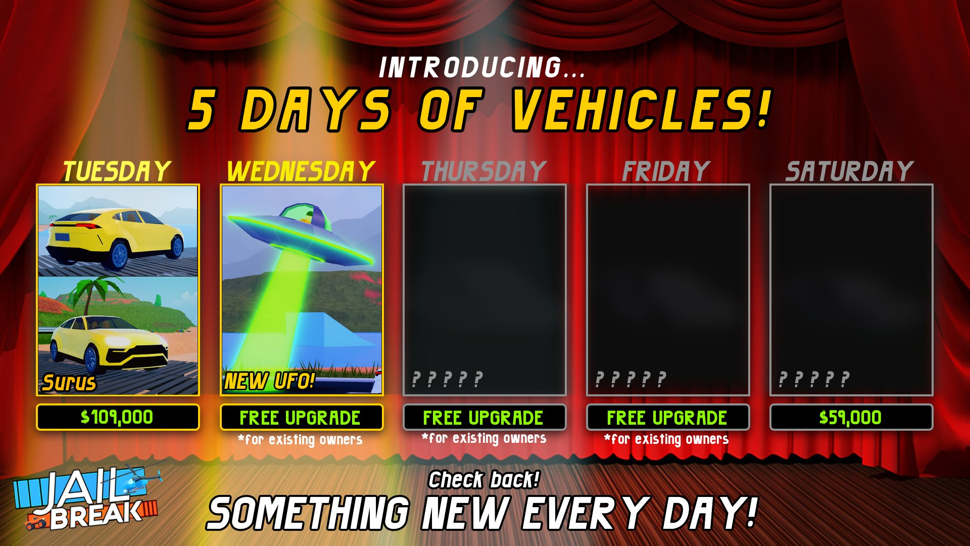 How To Hack Robux Into Your Car Badimo On Twitter 5 Days 5 Vehicles The 2nd New Vehicle Is A Refresh And It Is The Ufo This Refreshed Vehicle Is Now Bigger Than Before And Flies