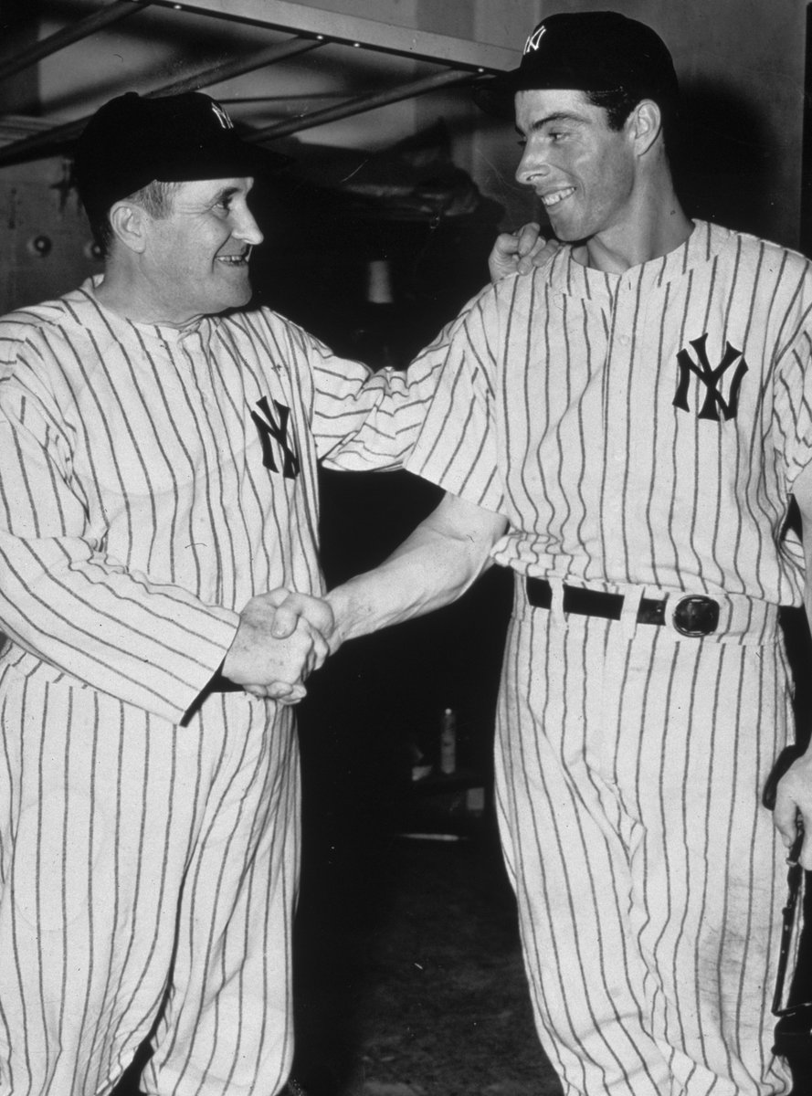 On this date in 1941, the Yankees' Joe DiMaggio extended his hitting streak to 45 games with a HR off Boston's Dick Newsome, breaking Willie Keeler's record for longest hitting streak in MLB history.  DiMaggio's streak would eventually reach 56 games, a record that still stands. <br>http://pic.twitter.com/0UlLNmoDsX