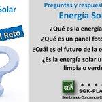 Image for the Tweet beginning: Preguntas sobre la #EnergíaSolar Prueba tus