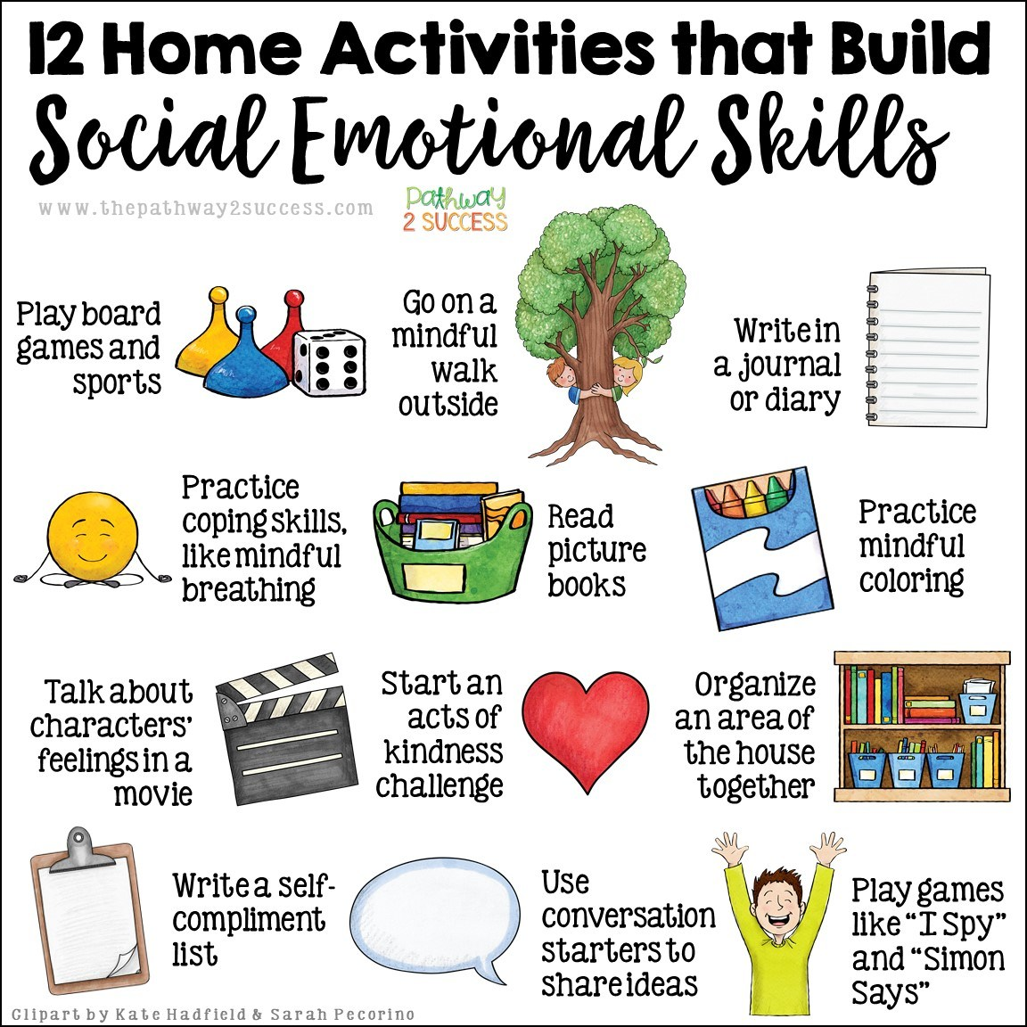 12 Home Activities that Build Social-Emotional Skills via @Pathwy2Success #SEL #parenting