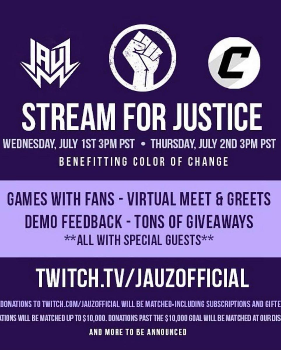 STREAM FOR JUSTICE - with @Jauzofficial, @marshmellomusic , @WaxMotif + more :)   https://t.co/KaHdBtBRLx https://t.co/ykg6f29NgI