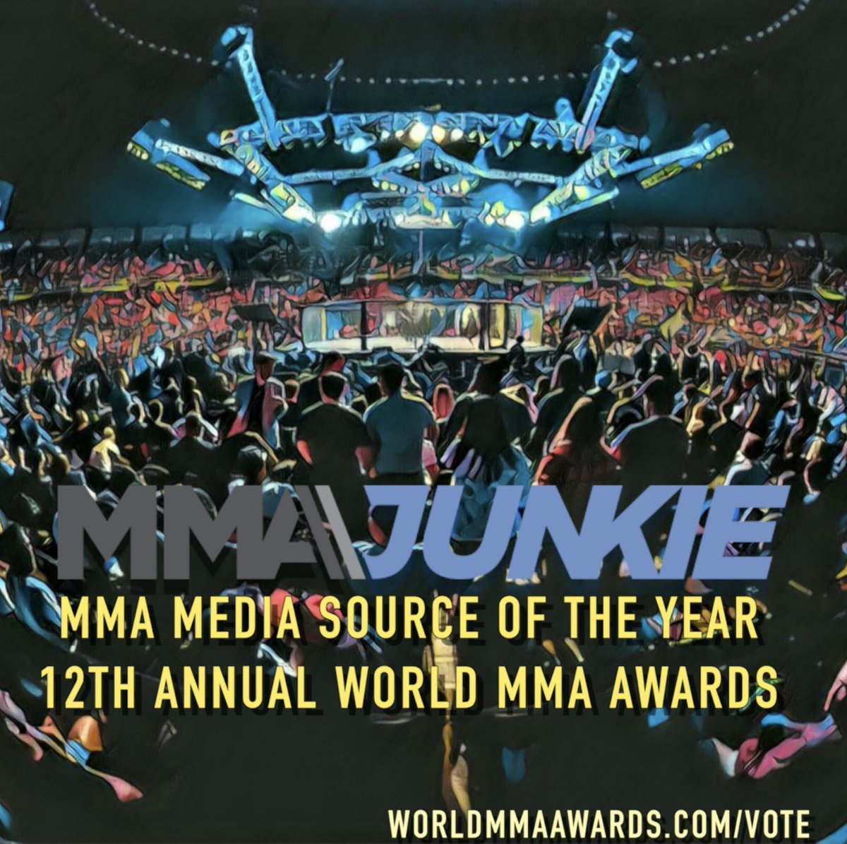 Voting for the 12th Annual @FightersOnly World MMA Awards are open. If you like our work, MMA Junkie is nominated for Best Media Source.   Vote here: https://t.co/58lgKtDUkB https://t.co/mj0JWWrrIn