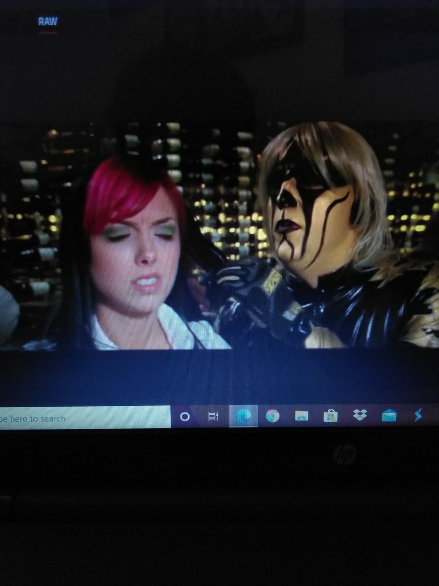 This is @AllieWrestling and @dustinrhodes from a episode of #WWERaw 10 years ago!