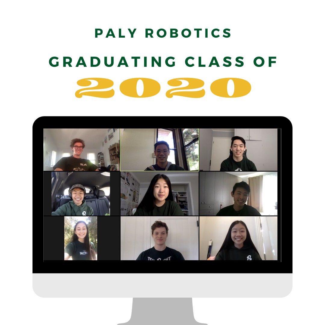 Thank you so much to our graduating seniors for all their contributions to our team throughout their time with us. Congratulations to the class of 2020, and you will always be Team8s! #firstalumni #frc8 #omgrobots #firstinspires https://t.co/bq07V0RvGU