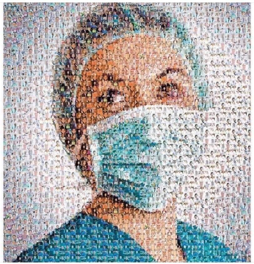 Picture made from photos of all of the nurses & doctors who have died from #COVIDー19 #WearADamnMask