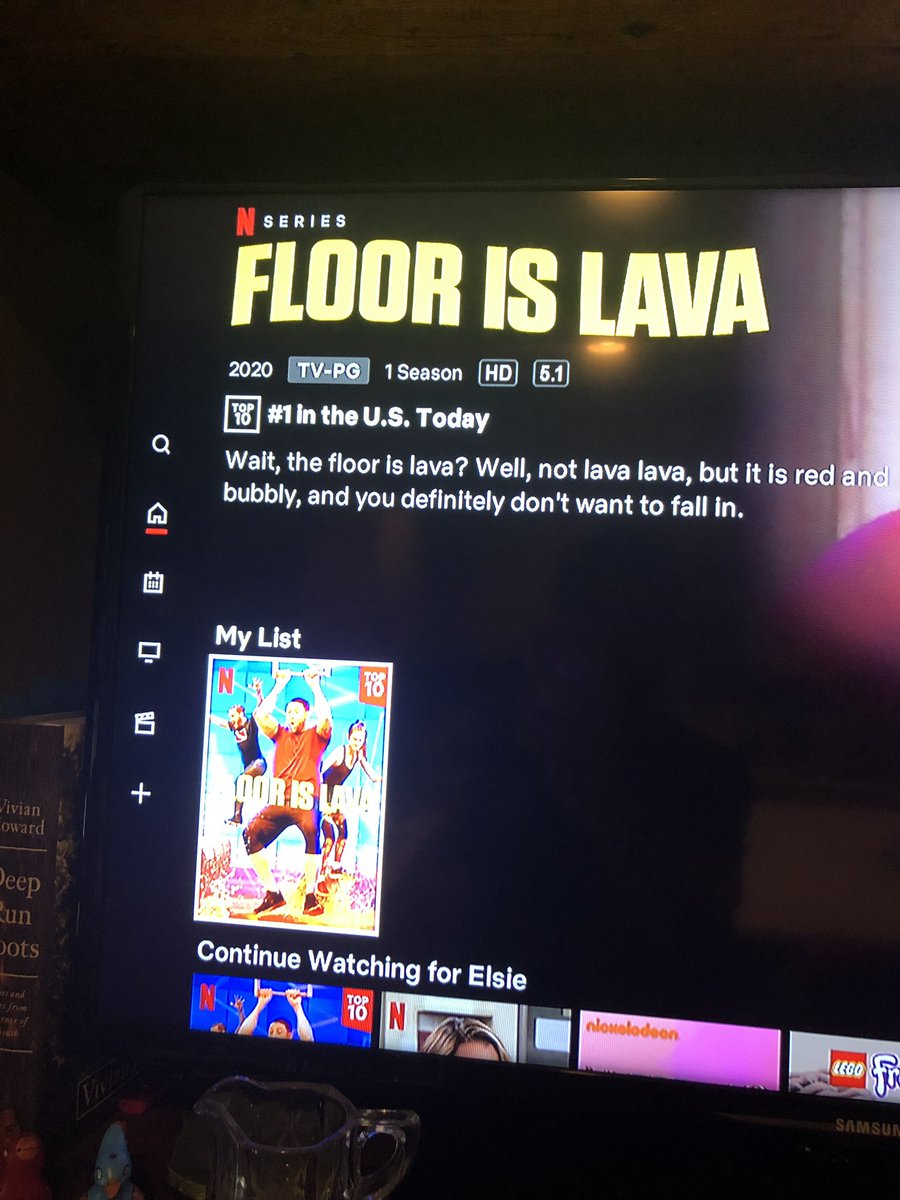 Y'all, our fun little show #FloorIsLava on @netflix is Somehow # 1 AGAIN! This is crazy! Tomorrow in 8 o'clock hour on @TODAYshow my friend @GadiNBC will share some great folks & why we all need a good laugh right now! Have you watched yet? Who's ready to try it ? https://t.co/FqOH5RGpJm