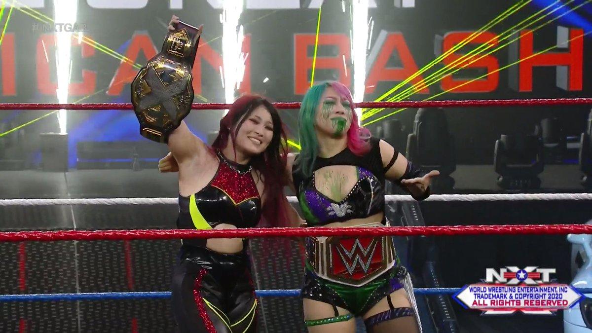 RT @WWENXT: Legends supporting legends. We love to see it.   #WWENXT #NXTGAB #SashaVsIo @shirai_io @WWEAsuka https://t.co/ACVICh4F79