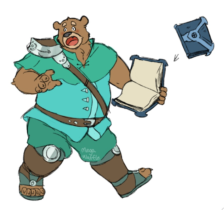 old oc from 2015.... mage bear... maybe i should bring him back lol