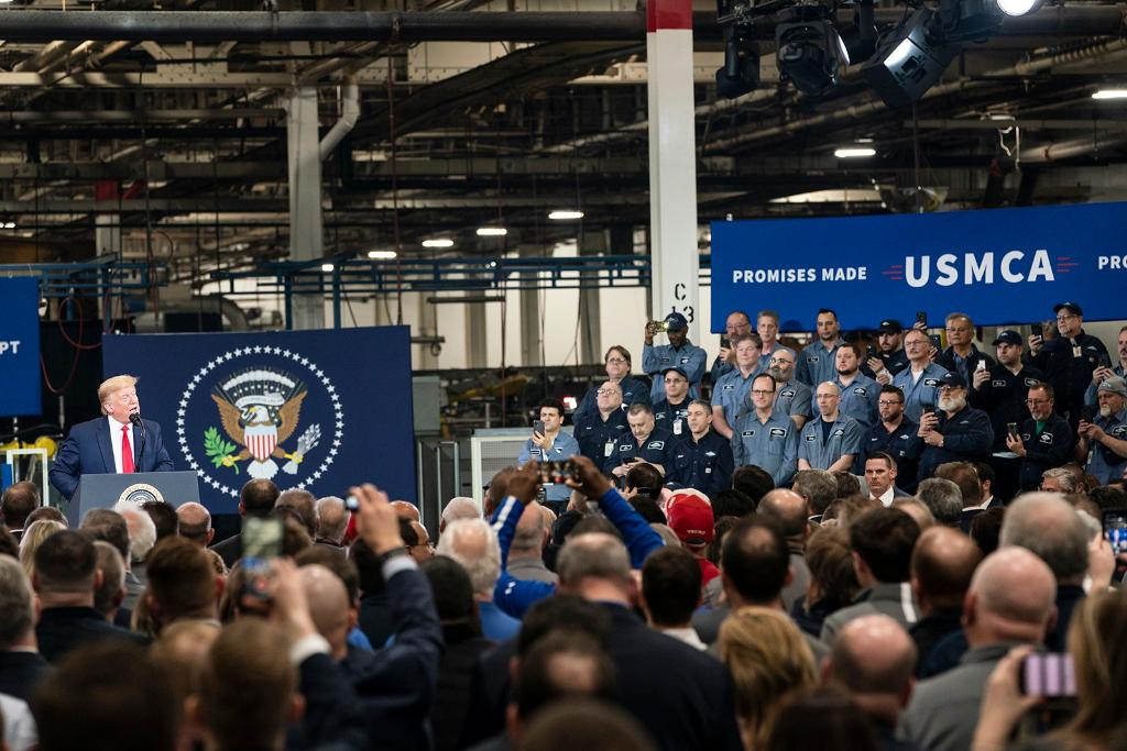 President @realDonaldTrump will ALWAYS stand with our GREAT American workers! 🇺🇸  #USMCA https://t.co/PuWD9el27v