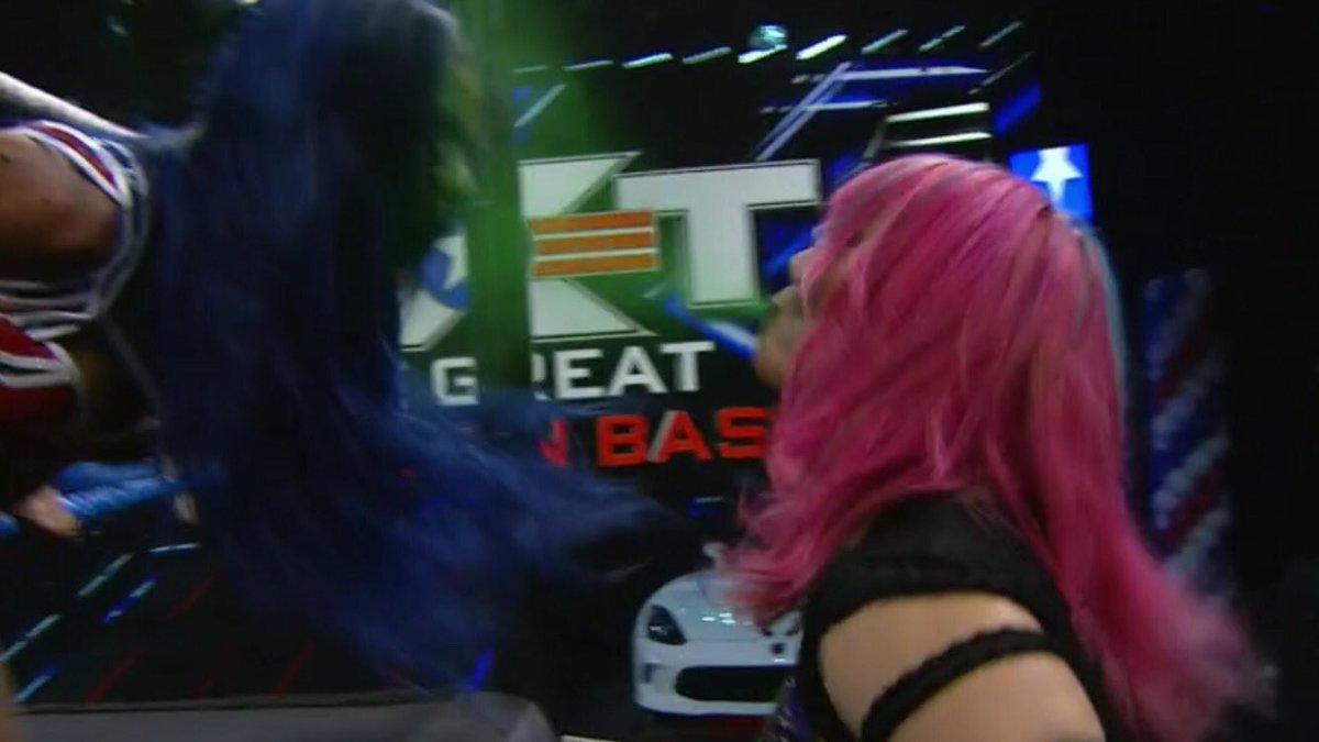 ASUKA SURPRISES SASHA BANKS!    IO VS SASHA - potential match of the year?   #WWENXT #NXTGAB #WWE #NXT #SashaBanks #IoShirai #Bayley #Asuka #GreatAmericanBash #ExtremeRules #WWERaw            https://youtu.be/kNkok4T-9ukpic.twitter.com/C8xBtumiAS  by C Wrestling