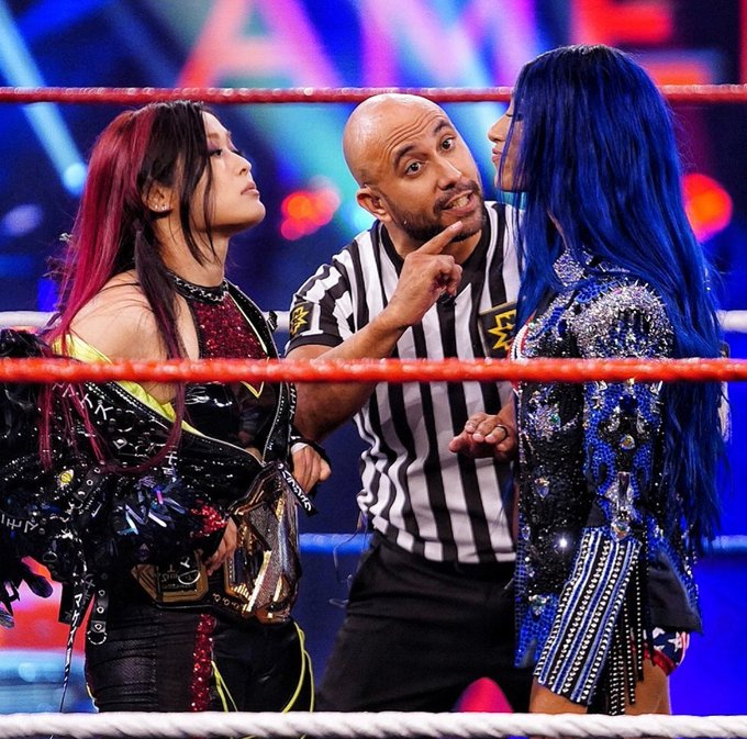 1 pic. You're welcome @shirai_io but this isn't over. @WWEAsuka it's only just begun. #LetGetExtreme