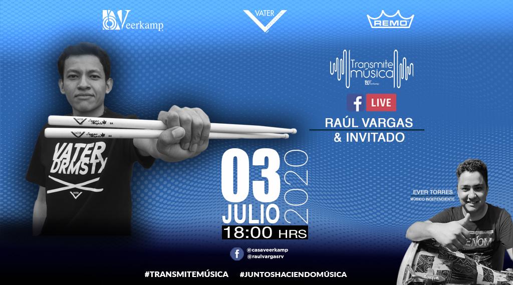 ¡Es hora de un stream de percusión! 🎉  👉 Nuestro #TalentoVeerkamp Raúl Vargas junto a @Evercusion te esperan este viernes 3 de julio a las 18 hrs. 🤘🔥  #JuntosHaciendoMúsica 🎶 #SwitchToVater 🎶 #TeamRemo 🎶 @remopercussion @VaterDrumsticks https://t.co/9lWCsi6Qbr