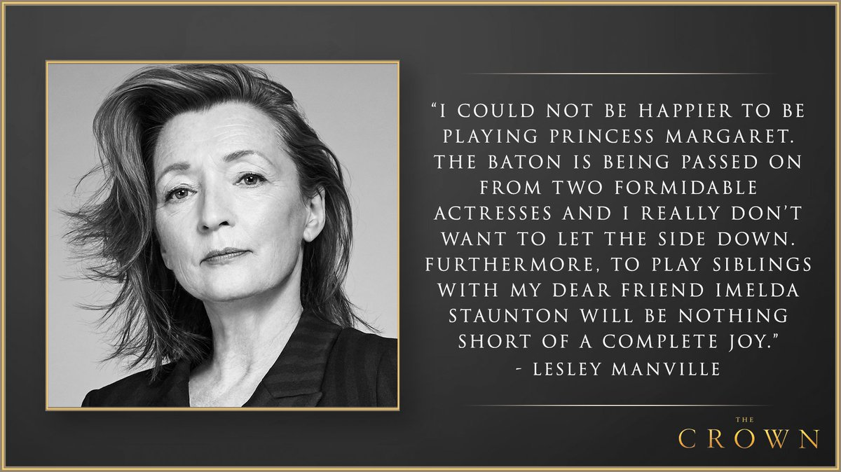 Lesley Manville will play Princess Margaret in the fifth season of The Crown. https://t.co/R5aZEBOW0t