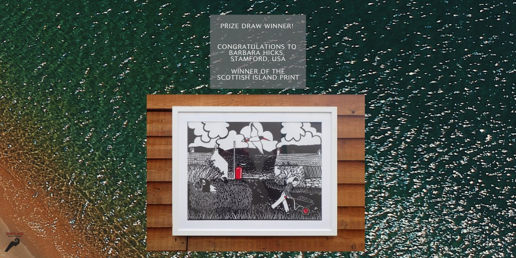 🎉 Congratulations to Barbara Hicks, Stamford USA, winner of the June Prize Giveaway of a Gilly B Scottish Island print. We think youll love your print, Barbara! 👏 #InspiredByShetland #Shetland