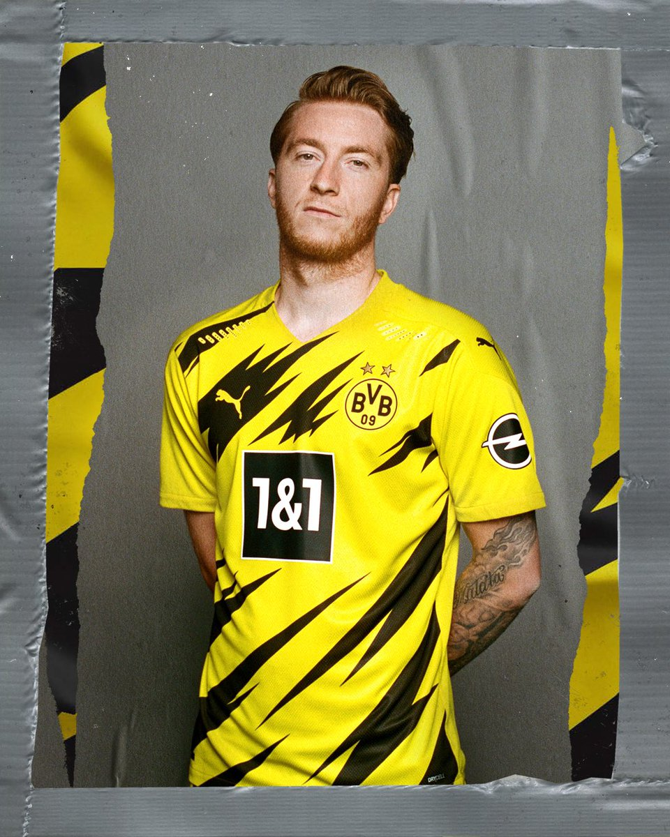 Serious face, electric kit ⚡️   Introducing the 2020/21 @BVB home kit, w/ @woodyinho. https://t.co/EFECl0FxOn