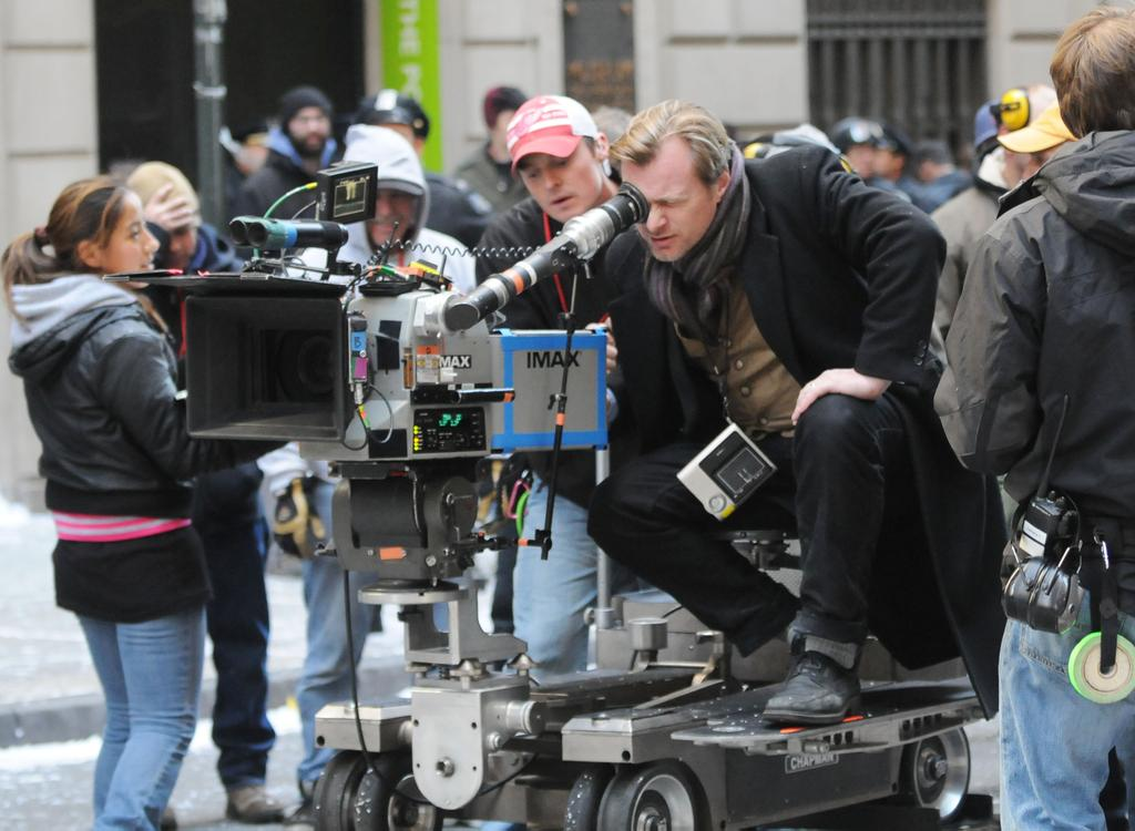 The camera used by Christopher Nolan is the original 70mm film cameras. So, films with scenes shot in 70mm, can be projected in their native aspect ratio of 1.43:1, and that will fill up the entire screen, requires true IMAX Cinema <br>http://pic.twitter.com/GKruO7dGlx