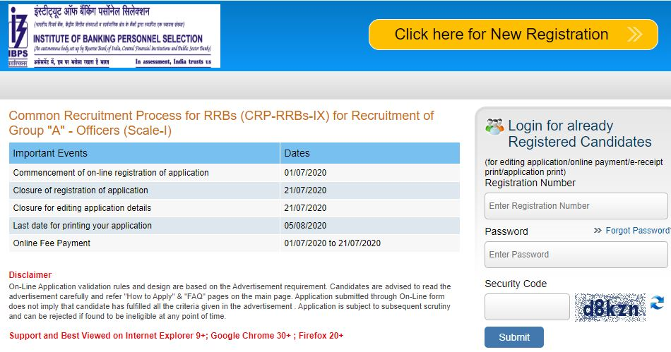 IBPS RRB 2020: The online application process for a total of 3800 posts of Officer Scale I in Regional Rural Banks across the country have started from today. https://latestjobsalert.in/ibps-rrb-s1-2020/…pic.twitter.com/Nzh8js2JWz